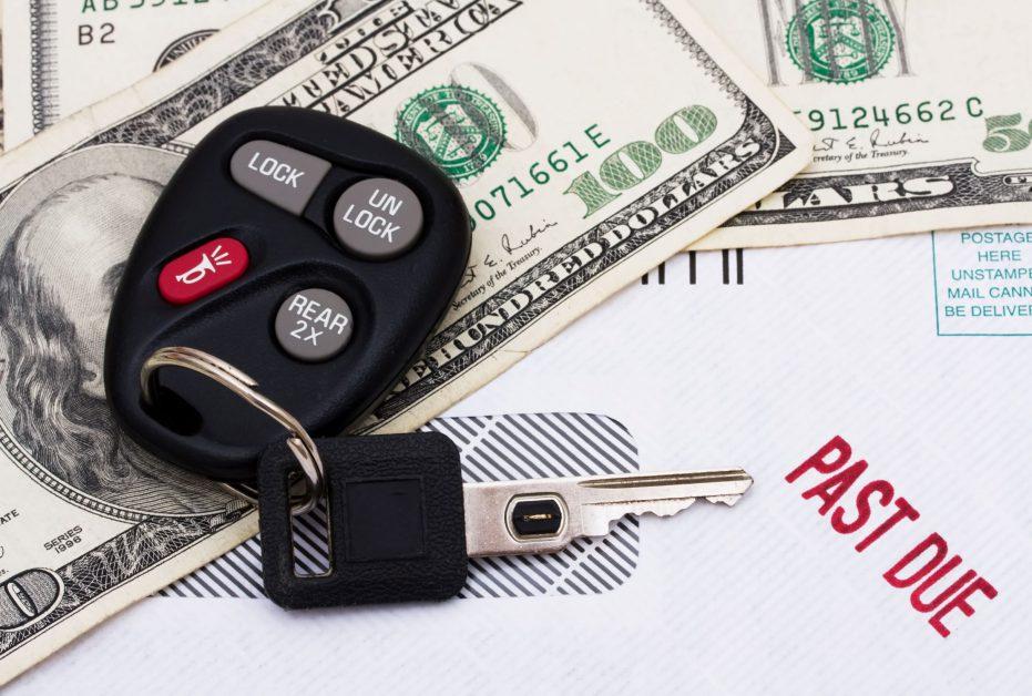 car keys, car payment and bill